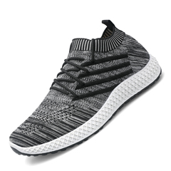 Men  Casual Shoes Sneakers Mens Breathable No-slip Men Male Air Mesh Lace Up Wear-resistant Shoes Black 43