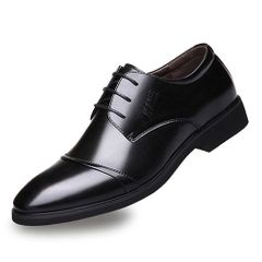 Formal Oxford Shoes for Men Wedding Shoes  Pointed Toe Mens Dress Shoes classic elegant shoes black 43 pu