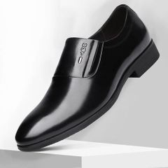 Classic Business Men's Dress Shoes Fashion Elegant Formal Wedding Shoes Men Oxford Shoes black 44 pu