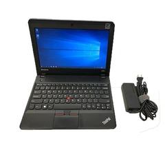 Lenovo Mini X140e Refurbished AMD 4GB 128GB Laptop Installed OS black 11.6 inches