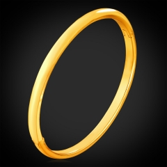 Bangles Simple Design 18k Gold/Platinum/Rose Gold/Black Gun Plated Women Men Cuff Bracelets 18k gold plated one size