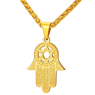 hamsa com meselondon grande plated fatima necklace hamsahandwithrounddiamondnecklace hand pendant products lucky gold