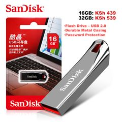 Sandisk Flashdisk Cruzer Force USB Flash Disk Flash Drive - USB 2.0 Flashdisks 16gb cruzer force black
