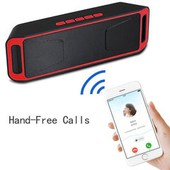 Wireless Bluetooth Speaker High Bass Portable Outdoor Stereo Loudspeaker red one  size