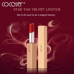 COCOSER Long Gold Make Up Start-like Velvet Lipstick 1#