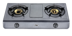 Gas Stove, MGS1402 Table Top, Non Stick, 2 Burner