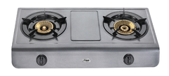 Gas Stove MGS1502 Table Top, Teflon, 2 Burner