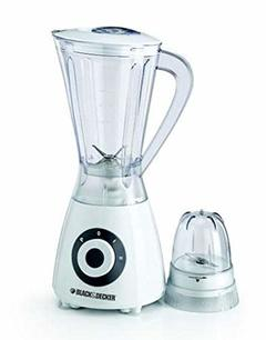 Black & Decker 400 Watts Blender With Grinder Mill white