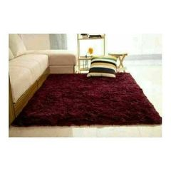 Carpet extremely comfortable Fluffy Carpet maroon 7*8