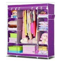 Portable Wardrobes 3 columns purple