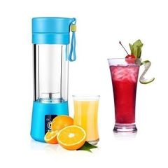 Portable Blender Juicer Cup / Electric Fruit Mixer / USB Juice Blender - Blue Blue medium Blue medium