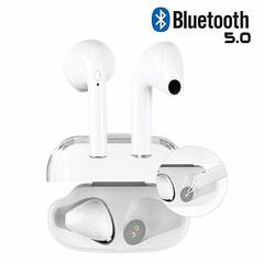 Bluetooth Headphones Wireless Earbud Mini Earphones with stereophone/Charging Case/noise canceling white
