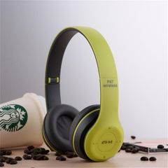 RichRipple P47 Wireless Headphones Bluetooth Headset With TF Radio Mic 3.5 jack pin for IOS/Android green