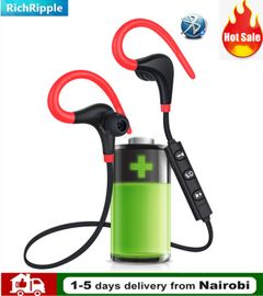 Bluetooth Earphone BT4.1 Headset Outdoor Running Small Horn Stereo Sport Wireless Headphones Earbud red