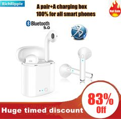i7S TWS airpod Bluetooth Earphones Wireless Earbud iPhone Samsung Tecno Android Ear Pods Stereophone white