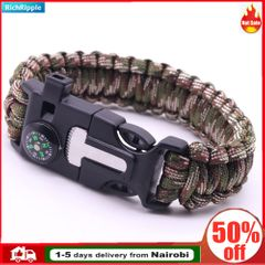 Military Emergency Bracelet Multifunction Field Survival Escape Rope Outdoor Tactical Survival Tool Army Green one size