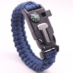 Military Emergency Bracelet Multifunction Field Survival Escape Rope Outdoor Tactical Survival Tool Navy one size