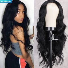 RichRipple Wigs RR000142 High Quality Big Wave Hair No Lace black One size