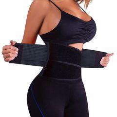 5XL Slimming Corset Waist Girdles Body Shaper Women Postpartum Belly Band Underbust Tummy Control black(sport style) 3xl