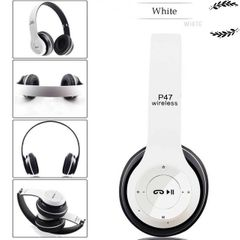 RichRipple P47 Wireless Headphones Bluetooth Headset With TF Mic 3.5 jack pin for IOS/Android white