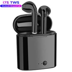 i7S TWS Pods Bluetooth Airpro Earphones Wireless Earbud for Android&ios Ear Pods Stereophone black