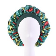 Cap for Women New Fashion Soft Hair Bonnet with Wide Band Comfortable Night Sleep Hat Hair Loss Cap Daffodil green