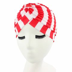 Cap for Women New Style Ladies Stretch Turban Hat Striped Turban Hair Loss Scarf Striped Cap Color 3