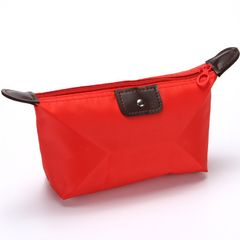 Fashion Waterproof Ladies Cosmetic Bag Wallet Card Case Men's Storage Bag Wallet Card Case Red as picture