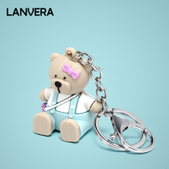 Key decoration, key clasp, pendant. blue 2.7*3*12.3