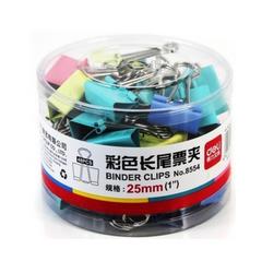 Changsha Office Deli Color long tail clip  CS026 color 25mm