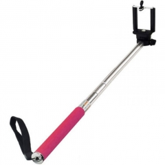 One Buttton Selfie Stick Touch Once - Pink