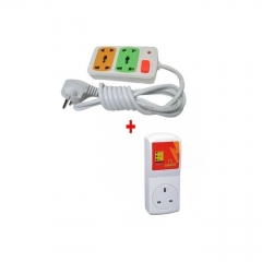 Guard + FREE 4-Way Socket Extension Cable - White red normal
