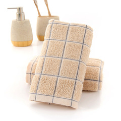 Cotton Wash  Comfortable Soft Fashion Towel Absorbent Strong Lint Does Not Fade Face Towel Brown 33*74 CM