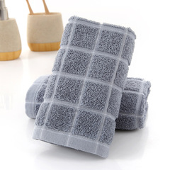 Cotton Wash  Comfortable Soft Fashion Towel Absorbent Strong Lint Does Not Fade Face Towel Gray 33*74 CM