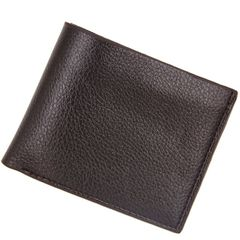 Fashion Men Wallets Soft Short Wallet Casual Style  Business Credit Card bag dark brown one size