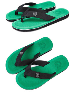 Shoes 2019 New Shoes Men Summer Men Flip Flops High Quality Beach Sandals Anti-slip green 40