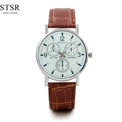 STSR New fashion watch men's watch luxury top brand casual sports quartz watch male clock brown white one size