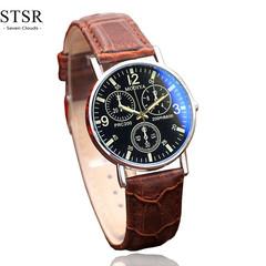 STSR New fashion watch men's watch luxury top brand casual sports quartz watch male clock brown black one size