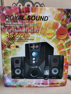 ROYALSOUND RS-522 2.1CH AC/DC Speaker System black 60W RS-522