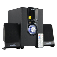 NEWDIGITAL ND-008BT 2.1CH P.M.P.O 8800W Speaker System Bluetooth Subwoofer black 20w ND-008BT