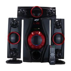 APU A308 3.1 CH Mulitimedia Speaker System black 80w A308