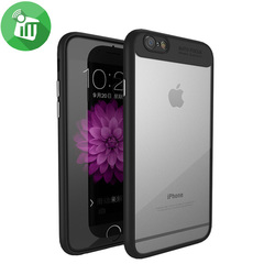 iPhone  Ipaky Hybrid HD Transparent PC Clear Slim Scratch Resistant Cover with TPU Protection iphone 6/6s black