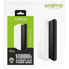Oraimo Powerbank Lithium-ion Battery Fast Output Powerbank 10000mAh (black) --