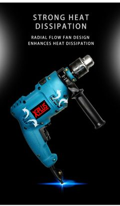 800WATTS GERMANY TECHNOLOGY AC TYPE IMPACT DRILL WITH FULL SET OF TOOLS XPLUS BRAND BLUE normal