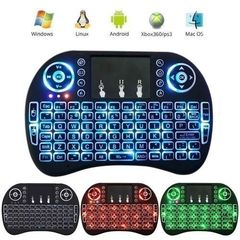 Wireless Mini Keyboard with Mouse Touchpad and Back-light for Android Box/ Smart TV/ Laptop - Black black