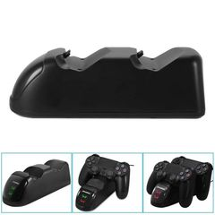 USB Charging Docking Station Charger Stand for PS4 Dual Shock Controller black m
