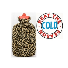Hot Water Bottle With a Warmer Cover Washable Heat Therapy Care cover blue