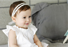 Baby Elastic Hair Band  Cute girls White