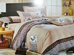 4 PCS Bedding set A10 (1 pcs duvet +1 Bedding Sheet Cover+2 Pillow Covers) as the picture 5*6