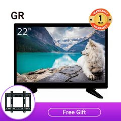 GR High Quality 22 Inch Full HD LED TV with Limited Free Wall Mount black 22''
